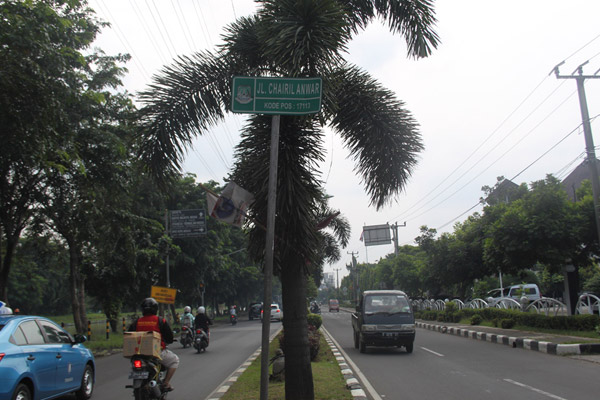 Jalan Chairil Anwar di Kota Bekasi. (Foto: Usman Nurdiansyah)