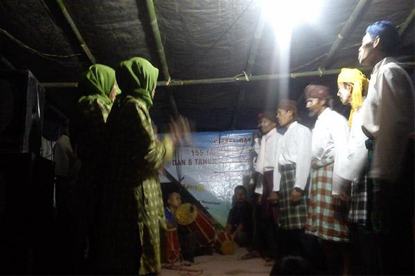 Penampilan Gondang, seni khas masyarakat Ciseel. (Foto: Zulkifli)